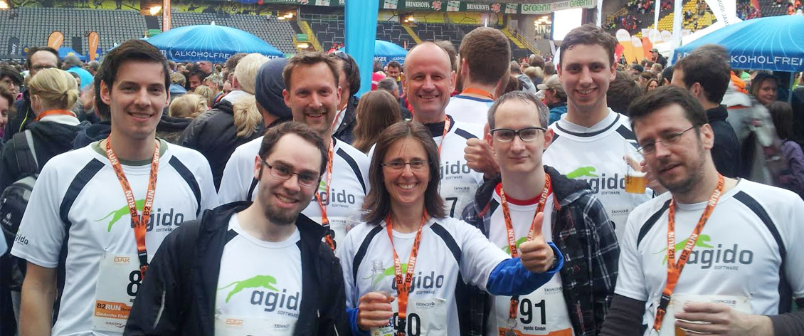 Team agido beim b2run in Dortmund
